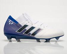 Adidas nemeziz Messi 18.1 Fg Masculino Branco Azul Tênis De Futebol Chuteiras