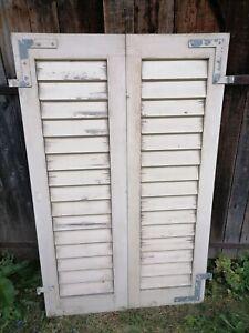 1 Paar Fensterladen - Holz - gebraucht - Höhe 143 cm, Breite 44,5 cm