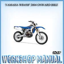 YAMAHA WR450F 2004 ONWARD BIKE WORKSHIP REPAIR SERVICE MANUAL IN DISC