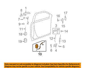 GM OEM Front Door-Door Lock Kit 22820695