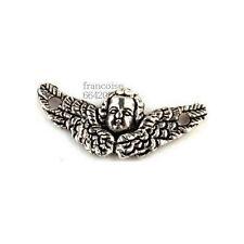 8 Connecteurs entre-deux Ange ailes 20x9mm Perles apprêts création bijoux _ A237