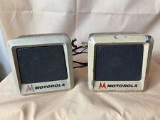 Vintage Metal TSN6000A-1 Motorola Two Way Radio External Speakers CB Police Ham