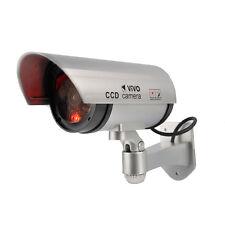 Lampeggiante LED 100% realistico Manichino Falso Cctv Fotocamera Digitale reale Alloggiamento in metallo