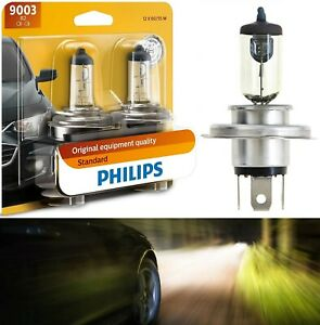 Philips Standard 9003 HB2 H4 60/55W Two Bulb Head Light Replace Dual Beam Lamp