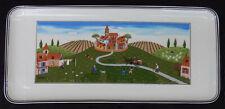 """Villeroy Boch Naif Tray Platter Summer Village Fields Landscape 13-1/2"""" X 6"""""""
