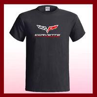 Chevrolet Corvette Sport Car Racing Logo Men's Black T-Shirt S M L XL 2XL 3XL