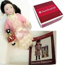 "American Girl SAMANTHA'S 6"" DOLL CLARA + Wood Nutcracker Christmas Toy +Pamphlet"