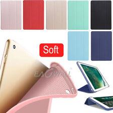 Cubierta inteligente delgada magnética de cuero suave de silicona caso cubierta trasera para Apple iPad