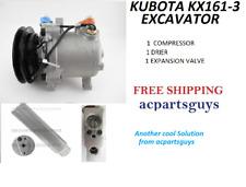 AC COMPRESSOR SERVICE FOR KIT KUBOTA KX161-3 EXCAVATOR T2055-72210 SVOE6