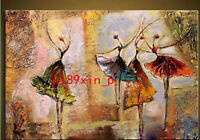 Handmade Figures Oil painting canvas Abstract ballet wall art decor No frame T12