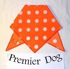 Orange & White Polka Dot Dog Bandana / Scarf - 3 sizes to choose from!