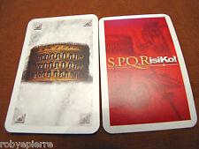 Ricambi Risiko SPQRisiko! S.P.Q.Risiko 1810 EG 2005 lotto 5 carte centri potere