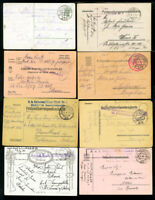 German WWI Field Post Cancel Postcards