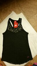 NIKE GIRL'S OR WOMEN'S RUNNING TANK TOP SZ L BLACK/GRAY[606376/032 NWT JUST DO T