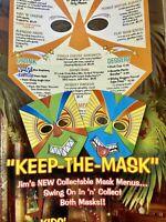 Williamsburg VA Jungle Jim's Menu Brochure Advertising Tiki Mask Brochure Dining