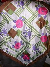"""""""""""Bright Pink & Purple Flowers On White Background"""""""" - Brown Border - Scarf"""