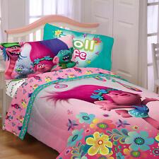 Dreamworks Trolls Reversible Twin Comforter & Sheets K (4 Piece Bed In A Bag)