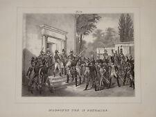 Litho Suèdoise NAPOLEON 18 BRUMAIRE UNIFORMES GRENADIER HUSSARDS EMPIRE 1825