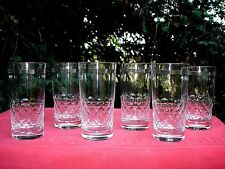 BACCARAT ECAILLES ET FILETS 6 HIGHBALL WHISKEY GLASSES 6 VERRES A WHISKY CRISTAL