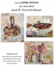 Fiberworks by Laura Heine LHFWTT1 Teeny Tiny Collage Pattern Group 1 PATTERNS