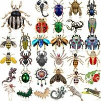 Chic Women Crystal Animals Insects Butterfly Bee Beetle Brooch Pin Jewelry Gift