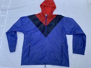 Vintage Levi's 1/4 Zip Pullover Rain Jacket. Awesome Color And Design! Mens Med