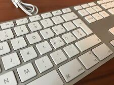 Original Apple Aluminum Wired USB International Keyboard Swiss Version Very Rare
