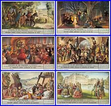 Lot 6 Chromos LIEBIG série HISTOIRE DE NOS PROVINCES HAINAUT