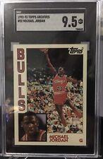 1992-93 Topps Archives #52 Michael Jordan 84' Design SGC 9.5 Mint+ Chicago Bulls