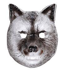 Wolf Tiermaske Classic für Kinder NEU - Karneval Fasching Maske Gesicht