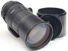 Nikon AF 135-400 mm Sigma APO 4.5-5.6 D + capuche