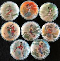 Imperial Jingdezhen Porcelain Plates (8) Legends Of West Lake, China, EUC!