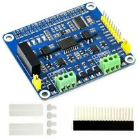 2-Ch Isolated CAN Expansion HAT Dual Chips Solution pour Raspberry Pi 4B/3B+