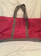 "Large Red & Taupe L.L. Bean ""Everyday Lightweight Tote"" Bag"