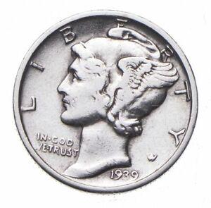 CHOICE - 1939-D Mercury Dime - Mint Marked - TOUGH Coin! *820