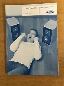 Ford Audio system owners handbook (2002/2009)