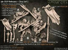 Orc Warriors Resin Miniatures - pour donjons et dragons ou autre jeux