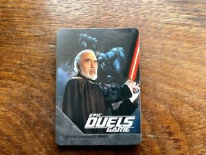 Star Wars Epic Duels Game Replacement Cards Count Dooku Complete Set of 31