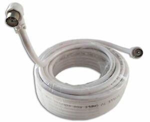 Câble d'antenne TV coaxial Arcas connecteur coudé 90° femelle mâle RG6 ⌀6.65mm