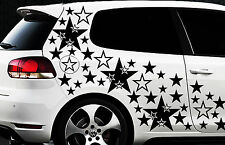 134x Sterne Star Auto Aufkleber Set Sticker Tuning Shirt Stylin WandtattooTribel