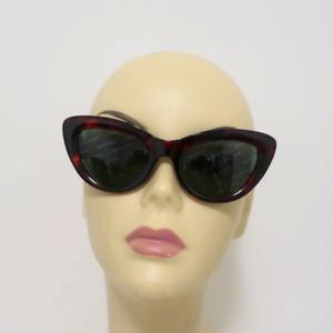 Balenciaga Logomania Cat Eye Sunglasses Red Tortoise Shell BA 129 54N