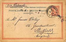 FRANKFURT CARTE POSTALE ENTIER POSTAL ALLEMAGNE 1884