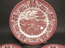 "Set of 3 Vintage Olde Country Castles 10"" Dinner Plates British Anchor Ironstone"