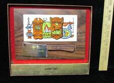 Wooden Cheese Tray Vintage Advertising Gift Foster Cty Carrington ND NEW In Box