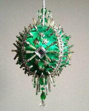 Kit SILVER SONATA Christmas Ornament Satin Silk Foam Ball Gramma/'s Old Attic