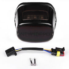 Smoke Lens LED Taillight W/ License Plate for Harley Dyna Sportster XL Fatboy ND