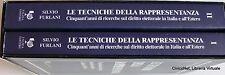 SILVIO FURLANI LE TECNICHE DELLA RAPPRESENTANZA IN ITALIA E ESTERO 2 VOLL FALZEA