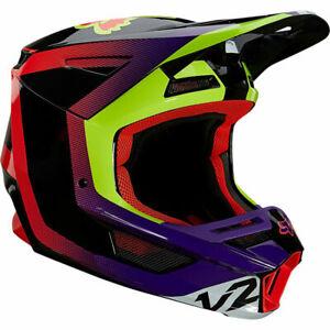 2021 Fox Racing Adult Mens V2 Voke Riding Motocross Off Road Helmet Dark Purple