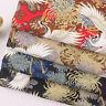 Japanischer Baumwollstoff Kran Bronzing Patchwork Kleidung Nähen DIY Bastel Deko