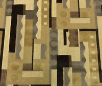 CLARENCE HOUSE ELLINGTON NEUTRAL ABSTRACT GEOMETRIC VELVET FABRIC REMNANTS